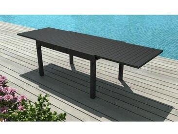 Table de jardin en aluminium avec allonge - Gris anthracite