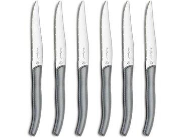 AMEFA Coffret de 6 couteaux steaks Gamme Sky - Gris