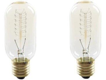 EXPERT LINE Lot de 2 ampoules à incandescence décorative E27 40 W compatibles variateur