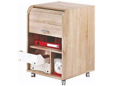 Caisson de bureau 2 tiroirs Contemporain Décor Chêne naturel - L 47,2 cm