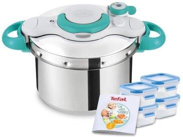 SEB P4620722 Clipso Minut MyBaby Autocuiseur 6 L + livret recettes bébé + 4 boîtes Masterseal Fresh 250 ml