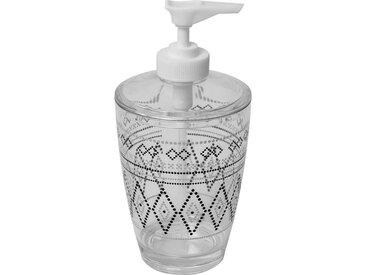 Distributeur à savon imprimé - Plastique - H16,5 x Ø7,5 cm