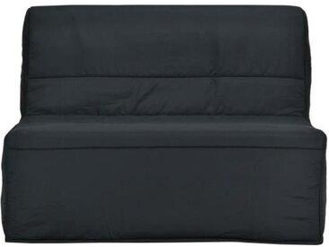 Banquette BZ matelas Bultex - Tissu Noir - L 122 x P 101 x P 95 cm - EVA