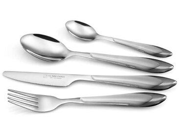 LA TABLE D'ALBERT Ménagère 24 pièces Tears 18-20-24 cm gris