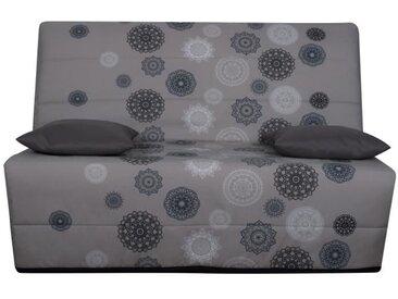 OPS 100% FRANCAIS - Banquette BZ 3 places LIOM - Tissu motif Mandala - L 142 x P 96 cm