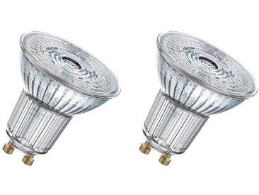 OSRAM Lot de 2 Ampoules spot LED PAR16 GU10 7,2 W équivalent à 80 W blanc chaud dimmable