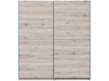 FINLANDEK Armoire de chambre ULOS style contemporain décor chêne cendré clair - L 170,3 cm