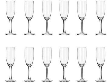 LIBBEY CLARET Lot de 12 flûtes à champagne 17 cl transparent