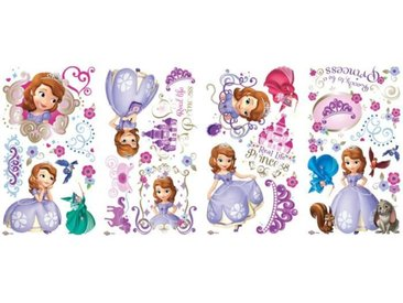 ROOMMATES Lot de 37 stickers DISNEY PRINCESSE SOFIA repositionnables 4 feuilles de 10,1cm x 44,1cm
