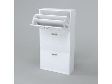 SCARPA Meuble à chaussures contemporain blanc mat - L 63 cm