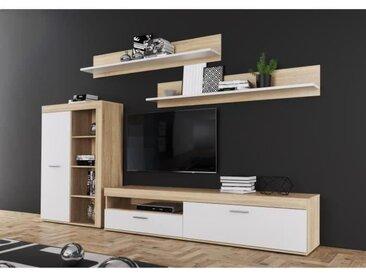 ANKLAM Ensemble Meuble TV -  L 213 x P 42 x H 184 cm