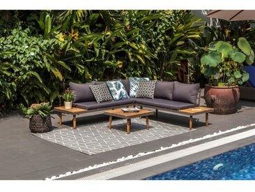 BEAU RIVAGE Salon de jardin Cenitz - 4 places - Bois d'acacia