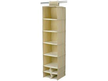 BAGGY Casiers à accrocher 9 poches renfort carton 30x30 cm beige