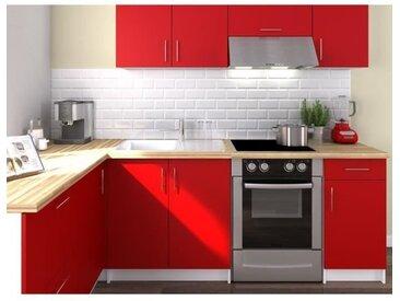 OBI Cuisine complète d'angle L 280 cm - Rouge mat