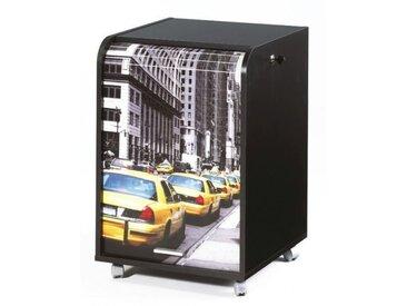 Caisson de bureau 2 tiroirs Taxis Jaunes Contemporain Noir - L 47,2 cm