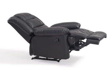 VOLUPTO Fauteuil de relaxation en cuir Noir - Contemporain - P 85 cm