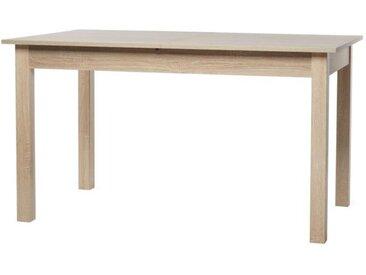 COBURG Table à manger extensible - 6-10 personnes - Décor chêne - L 137-177 x l 80 cm