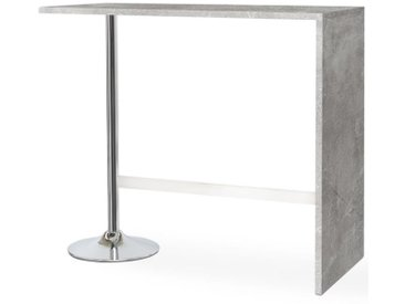 PARTY Table bar de 4 à 6 personnes style contemporain effet béton brillant - L 120 x l 60 cm