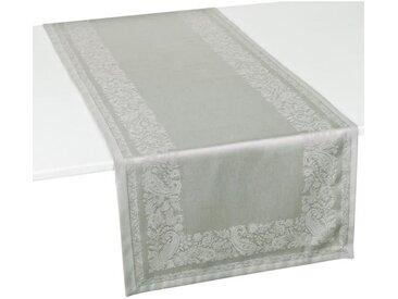 VENT DU SUD Chemin de table TRENTO - 47x150 cm - Gris taupe