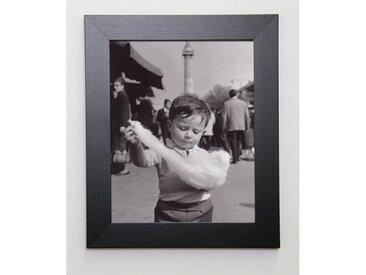 PHOTOGRAPHIE COLLECTION Image encadrée Barbe à papa 31x37 cm Gris