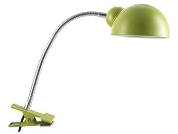 Lampe pince de bureau Quincy E14 40W vert