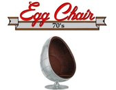 Fauteuil pivotant Oeuf Egg chair AVIATEUR Aluminium Style Vintage. Design 70's. -  Inside75