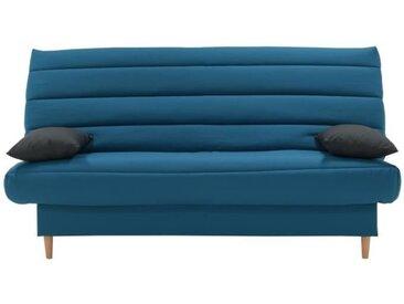 LIV Banquette clic clac 3 places - Tissu bleu canard - Slyle scandinave - L 190 x P92 cm