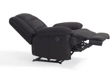 VOLUPTO Fauteuil de relaxation en tissu Noir - Contemporain - P 85 cm