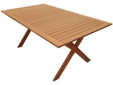 Table de jardin pliante 6 personnes - table 180x100cm en acacia FSC