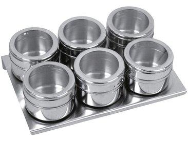 Lot 6 boîtes à épices magnétiques EQUINOX