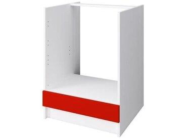 OBI Meuble four L 60 cm - Rouge mat