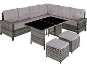 Canapé de jardin BARLETTA modulable - gris