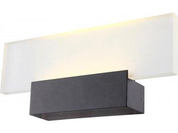 GLOBO LIGHTING Applique extérieur aluminium fonte gris - Verre satiné