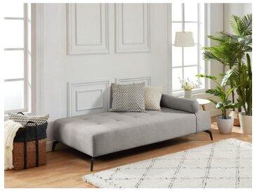 SHADOW Méridienne DAYBED 3 places - Tissu gris clair - Style contemporain - L190 x P 90 cm
