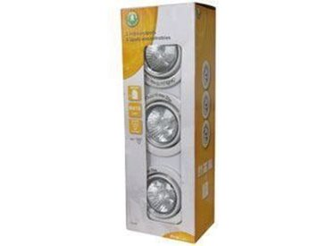 PROLIGHT Lot de 3 Spots encastrables ronds GU10 - 40 W - Blanc