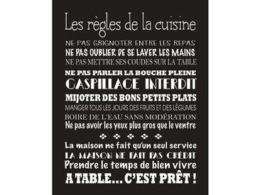 CUISINE Image contrecollée 40x50 cm Les règles de la cuisine