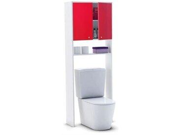 CORAIL Meuble WC ou machine à laver L 63 cm - Rouge brillant