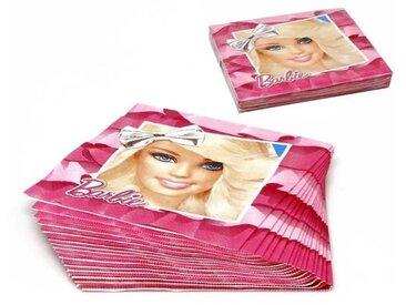 ATOSA Pack de 15 serviettes en carton jetable - Collection Barbie - Fille - 33x33 cm