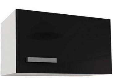 START Caisson haut de cuisine sur hotte L 60 cm - Noir Brillant