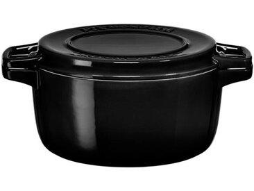 KITCHENAID KCPI40CROB - Cocotte ronde en fonte - Ø 24 cm - Noir inoyx - Tous feux dont induction