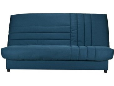 COMFORT BULTEX Clic clac 3 places - Tissu Bleu canard - Made in France - L 192 x P 95 x H 101 - BETSY