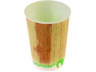 NATURESSE - 5235-12 - 12 Gobelets - Cellulose + PLA - Décor palmier 25 cl (Lot de 3)