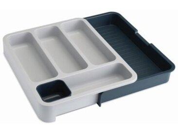 Range-couverts extensible DRAWERSTORE plastique gris