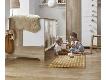 Lit bébé évolutif avec matelas Lili  Bois et blanc 70x140 cm