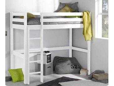 Lit ado mezzanine Cargo  Blanc 90x190 cm
