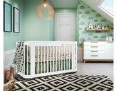 Lit bébé évolutif Tosca  Blanc 70x140 cm