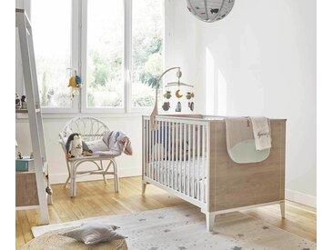 Lit bébé évolutif avec matelas Rêve  Chêne clair 70x140 cm/Opt:Sans kit évolutif