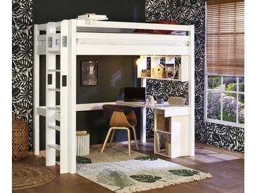Lit mezzanine adulte 2 places Fynn  Blanc 120x190 cm