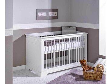 Lit bébé évolutif avec matelas Mel  Blanc 70x140 cm
