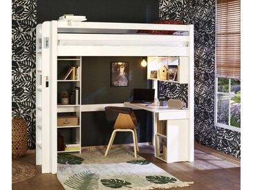 Lit mezzanine enfant 2 places Fynn  Blanc 120x190 cm